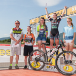Greta Seiwald sul podio della gara Junior - La Mesa Bike - Ph: Michele Mondini
