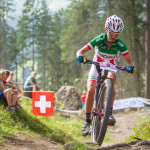 Lisa Rabensteiner in azione nella Tappa di World Cup di Lanzerheide - Ph: Michele Mondini