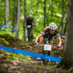 Emilie Collomb in prova sul percorso di Mont Sainte Anne - Canada - Ph: Michele Mondini