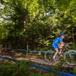 Lisa Rabensteiner percorre il Troll Path a Windham. -Ph: Michele Mondini